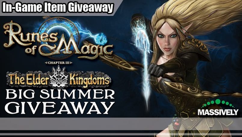 In-game items and real-world prizes abound in Runes of Magic's summer giveaway!