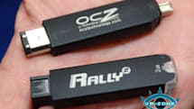 OCZ shows off Rally 2 FireWire thumbdrives at CeBIT