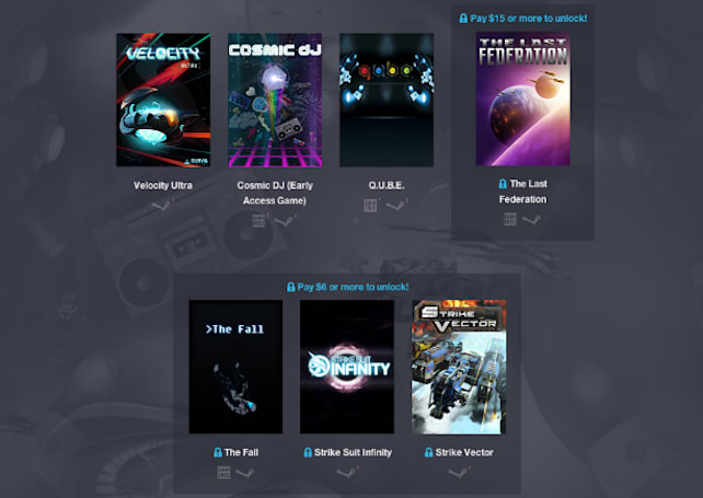 Humble Weekly Bundle shoots for the stars