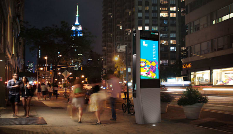 500 of NYC's free WiFi kiosks will be installed by July
