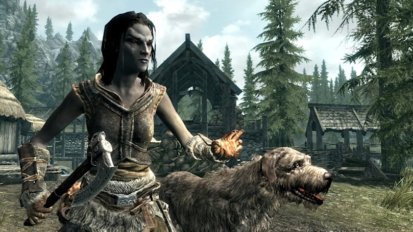 Skyrim will feature Steamworks support, also an adorable dog