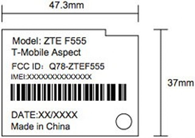 Mysterious, ZTE-made T-Mobile Aspect swings by the FCC