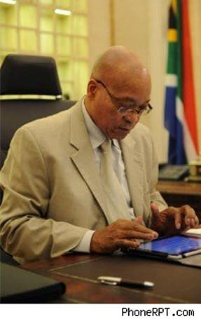 iPad assists South African President Zuma with State of the Nation address