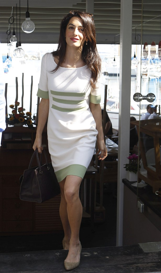 Amal Clooney returns to work post-wedding, looks exceptionally chic