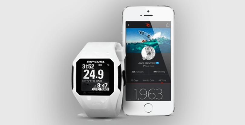 Rip Curl's new watch tallies waves, tracks speed in the surf