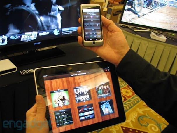 Yahoo! Connected TV Widgets shows off live TV tie-ins, iPad remote and D-Link add-on (update: video!)