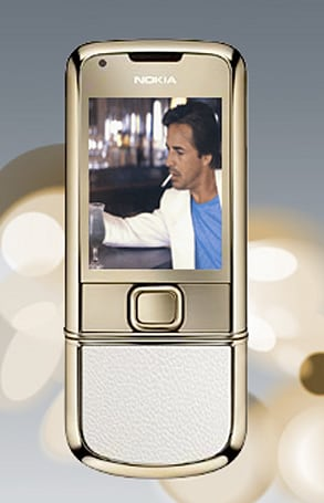 "Nokia Gold Arte 8800 says ""gold is not enough"""