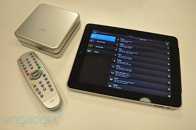 Elgato's EyeTV HD records shows to your Mac, slings live to your iPad