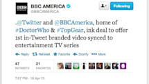 BBC America, Twitter reach first 'in-tweet branded video' deal for a TV series