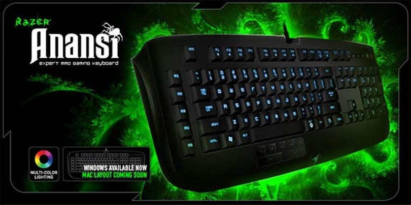 Reviewing the Razer Anansi MMO keyboard: A tricky little spider