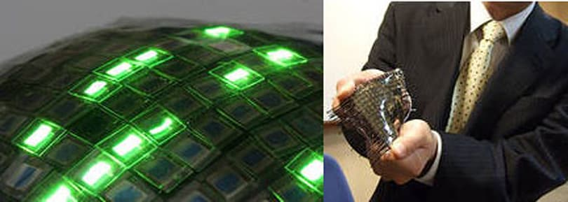Flexible, stretchable, rubbery OLED prototype shown off in Tokyo