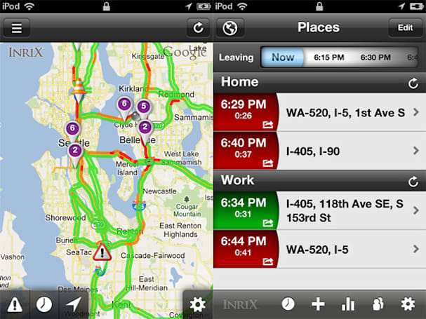 Inrix Traffic 4 for iOS helps drivers avoid traffic congestion and estimate arrival times (video)