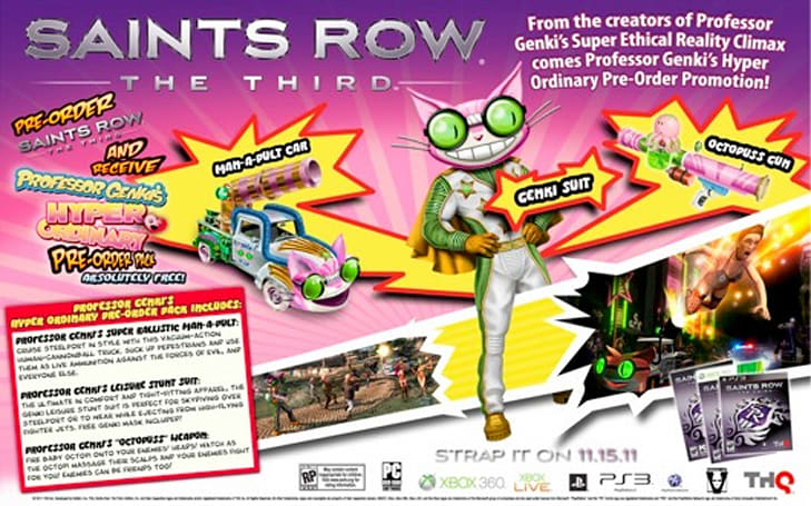 Saints Row: The Third's Tim and Eric promo gets weird