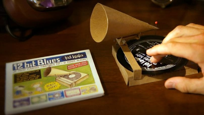 Kid Koala bundles working cardboard gramophone with album, spurs on budding turntablists (video)