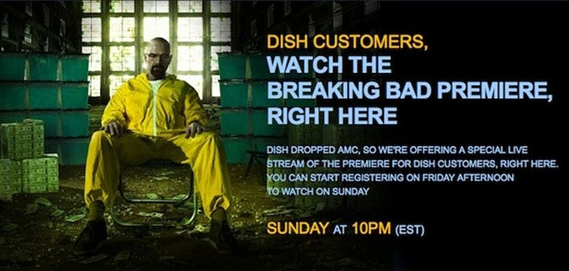AMC to live stream Breaking Bad season premiere on its site, Dish customers rejoice