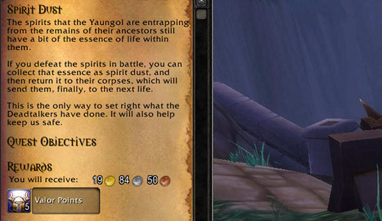 Mists of Pandaria Beta: Earning valor points via daily quests