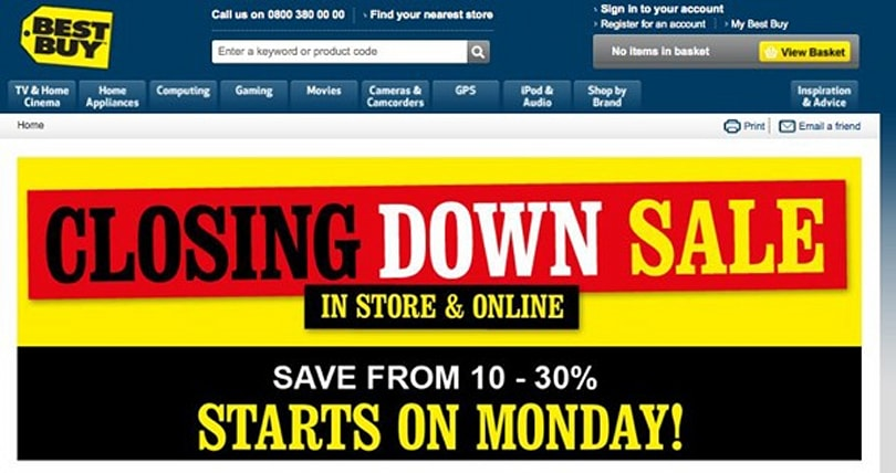 Best Buy-bye: Retailer bids farewell to the UK with blowout sale