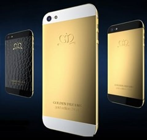 Golden Dreams smothers the iPhone 5 in gold and alligator skin