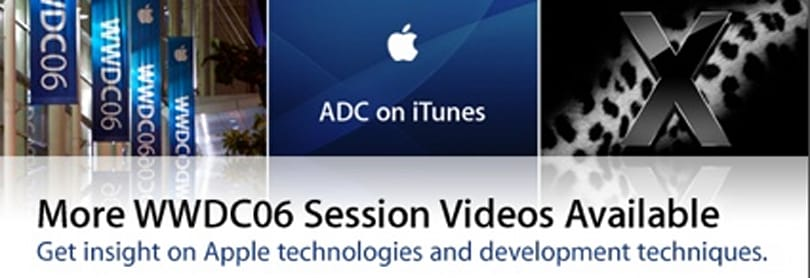 Apple releases more WWDC 2006 videos on iTunes