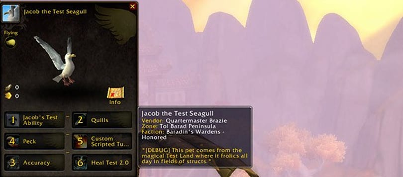 Mists of Pandaria Beta: Pet Journal marks the return of flavor text