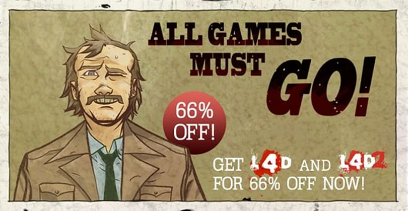 Left 4 Dead 1 and 2 on sale for $10.19 on Steam for a limited time