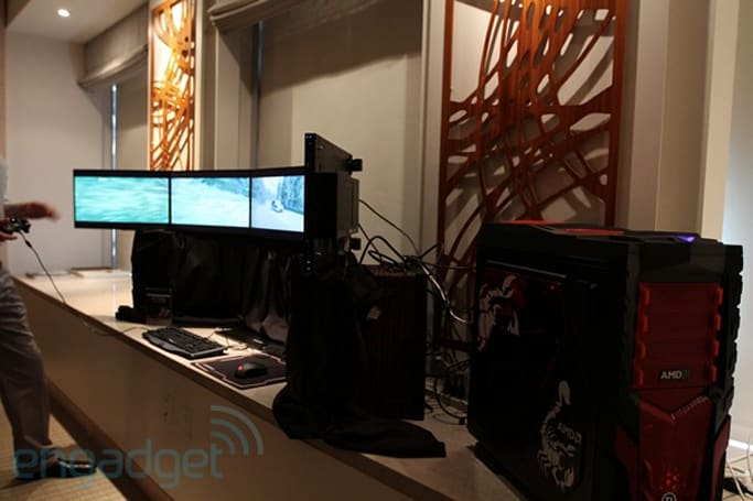 AMD Eyefinity eyes-on, prepare to fall for landscape goodness (video)