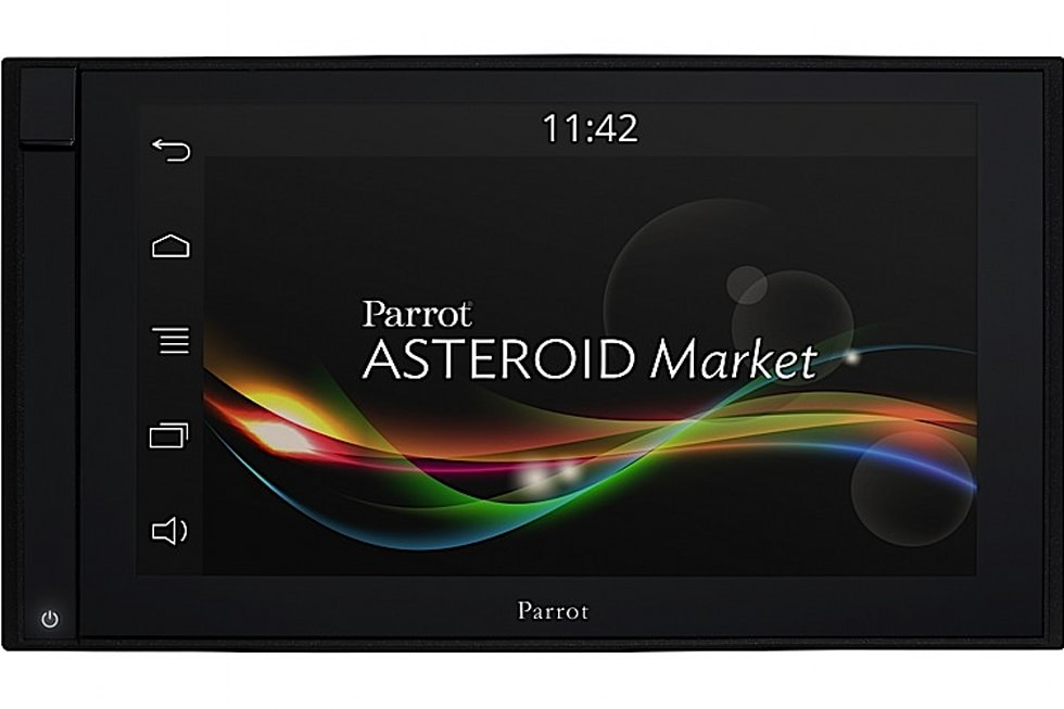 parrot unveils asteroid smart tablet and mini car infotainment systems we go hands on. Black Bedroom Furniture Sets. Home Design Ideas