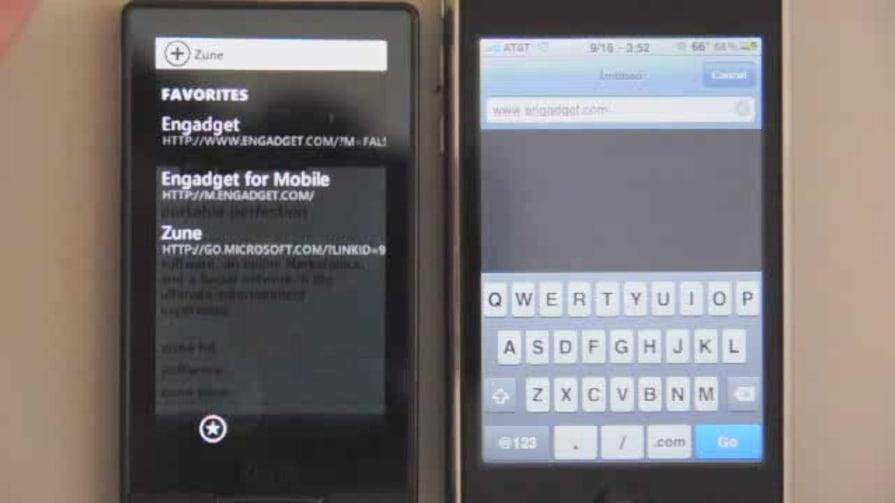 Zune HD Browser Test