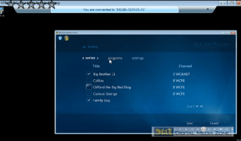 New Media Center features in WHS Power Pack 3 exposed in a screencast