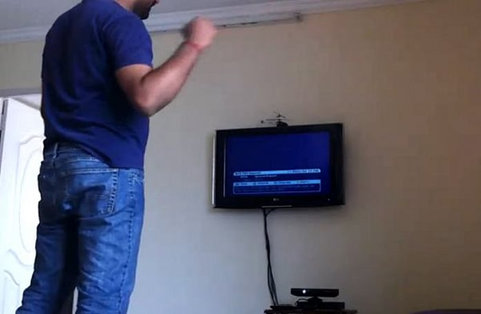 Kinect hack turns controlling the TV into light aerobic exercise (video)