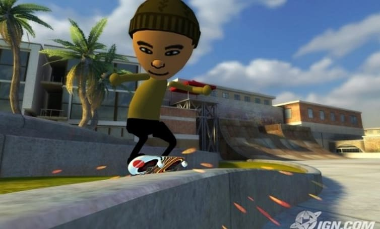 Play as your Mii, or a professional skater, or a professional skater's Mii in Tony Hawk Ride