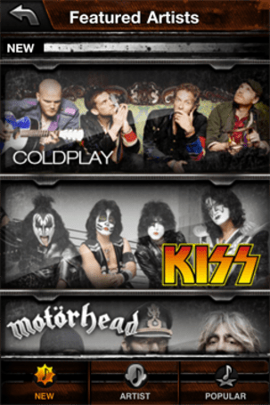 Three new track packs available for iPhone Guitar Hero
