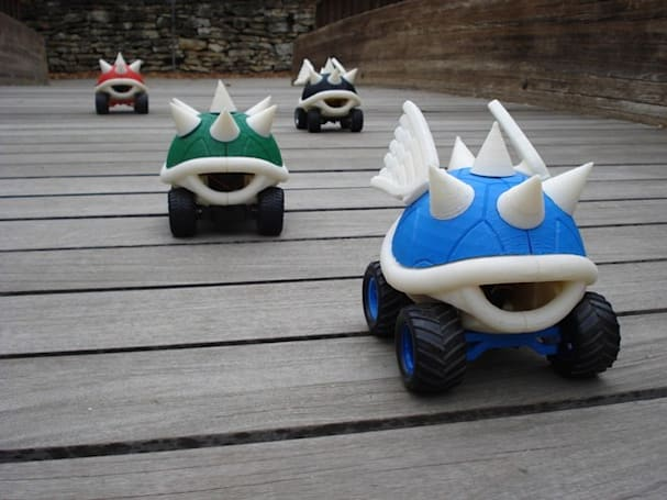 3D-printed Mario Kart turtle shells race to rescue American economy
