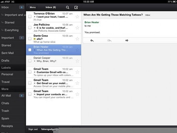 Gmail app for iOS now lets you e-mail from alternate addresses