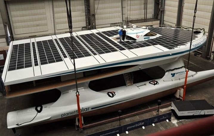 PlanetSolar boat aims for Earth circumnavigation with Sun's help, enters testing stage (video)