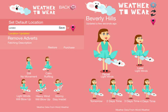 Weather to Wear helps you plan your skirts around the breeze