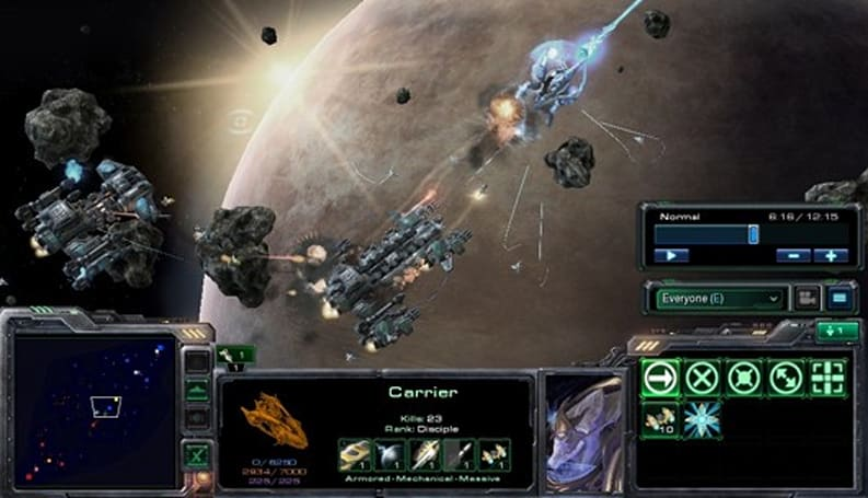 StarCraft 2 user-created map takes the fight into space