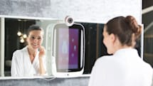 The first smart mirror you can actually buy focuses on your flaws
