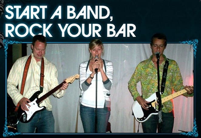 Rock Band Bar Nights encourages sloppy thrashing in watering holes