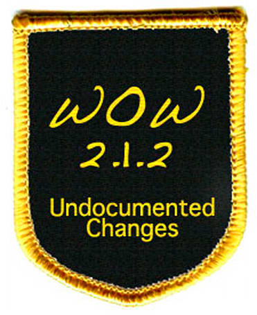 2.1.2: Undocumented changes