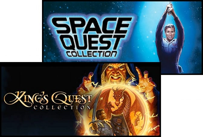 Space Quest and King's Quest Collections join Steam, with other Sierra titles