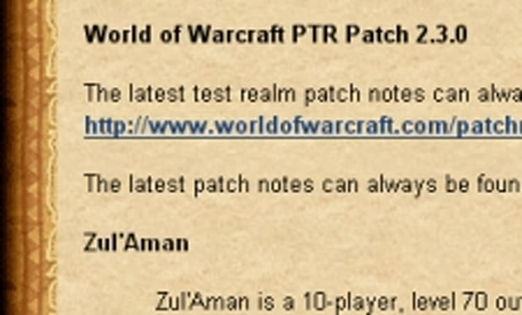 Updated Patch 2.3 Test notes with more class changes