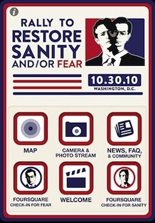 Rally to Restore Sanity and/or Fear app now available