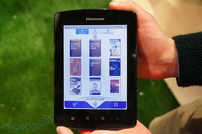 Hanvon C-18 Mirasol e-reader hands-on (video)