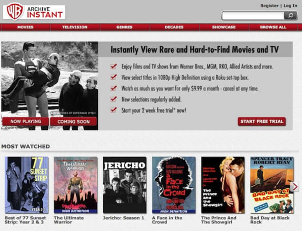 Warner Archive Instant launches, offers subscription to stream classic movies and TV shows