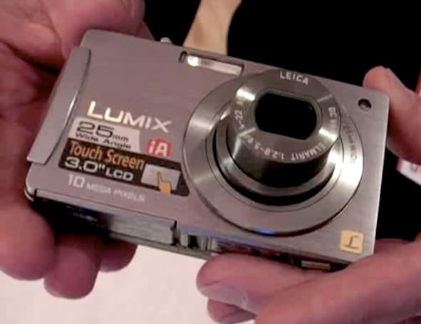 Video: Hands-on Panasonic's DMC-FX500 with 3-inch touchscreen and 720p video