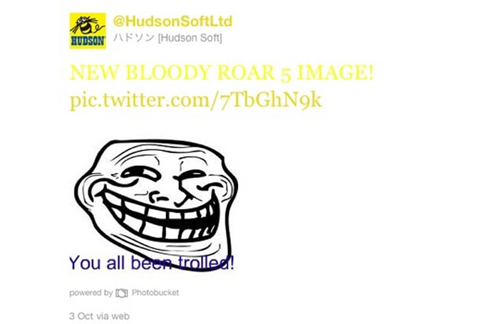 Bloody Roar announcement was a fake
