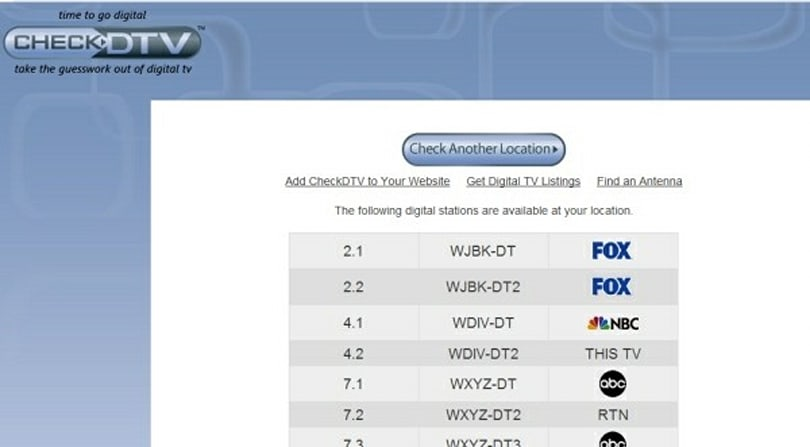CheckDTV.com breaks down the digital broadcasts available in your area