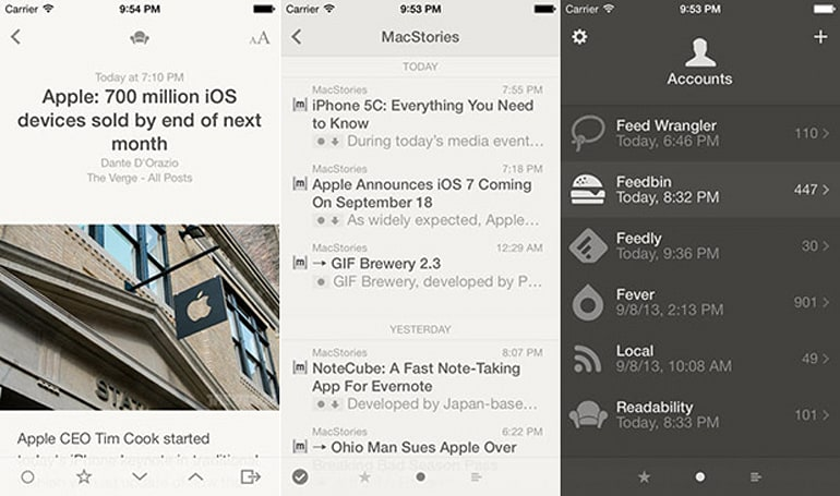 Reeder 2 hits the App Store, brings back iPad compatibility