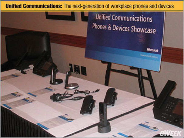 "Microsoft shows off ""unified communications"" devices"